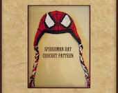 Crochet Spiderman Hat PATTERN - Instant Download