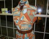 Groovy Design on Shirt Waist Dress