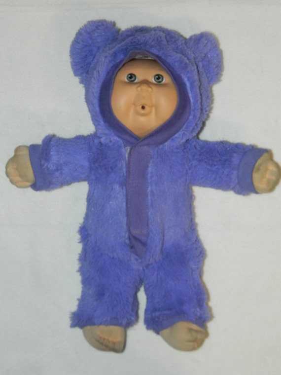 Waldorf PURPLE doll BEAR costume for 12 -13 inches Waldorf style doll - ready to ship. Waldorf doll clothing.
