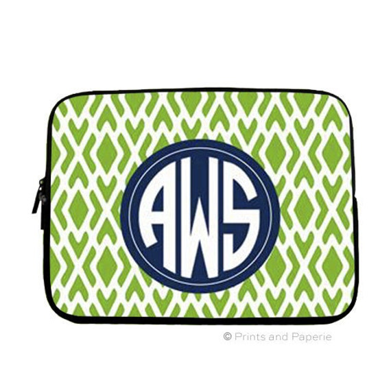 Personalized, Monogrammed Laptop Sleeve