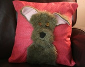 Custom Throw Pillow.  Pet Lover's perfect Gift.  Pillow with likeness of your pet.  Nearly any Breed of dog. One of a Kind. Free Shipping.