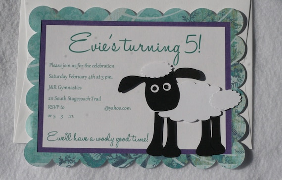 Items similar to Shaun the Sheep 10 Personalized SheepLamb – Shaun the Sheep Birthday Card