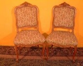 Exquisite pair of carved French side chairs Circa 1920