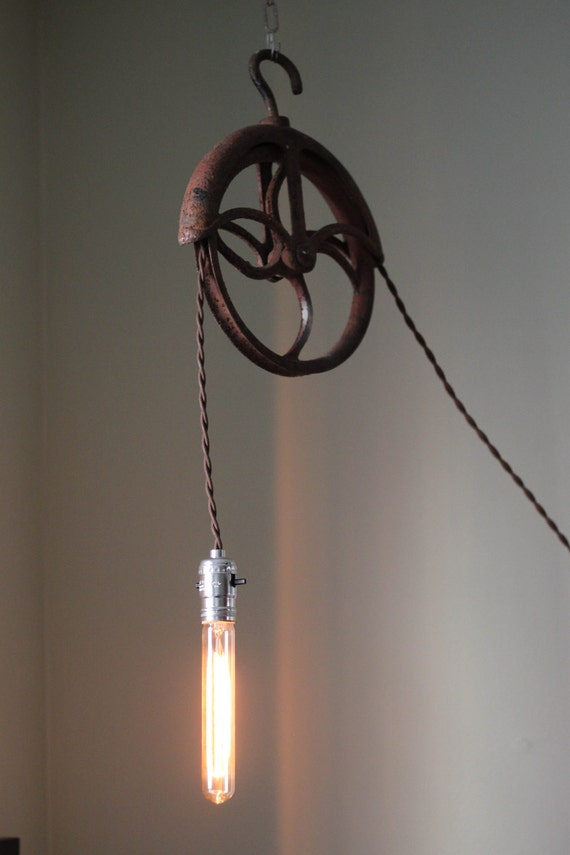 Antique Pulley Lamp