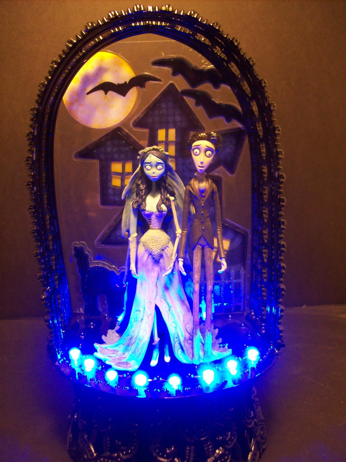 Corpse Bride & Victor Wedding Cake Topper Gothic Haunted House