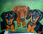 Custom Painting- The Rescue Weiner Triplets