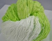 Sample Size - Hand Dyed Size 10 Crochet Cotton - Lemon Lime  - Small project Size - 10, 25, 50, 75 or 100 Yards