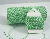 Bakers Twine - The Twinery - 100% Cotton  -  One Color - Original Twist - Your Choice of Amount - Peapod Green Shown