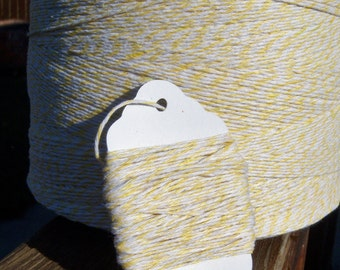Bakers Twine - Lemon Yellow Bakers Twine or Your Choice of Color - 5, 10, 15, 25, 50, 75 or 100 Yards - 100 Percent Cotton - Bakery Twine