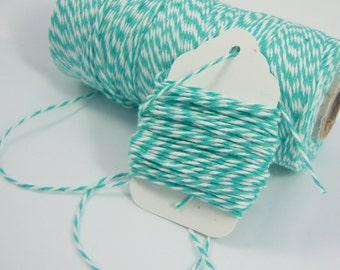Bakers Twine - The Twinery - 100% Cotton  - One Color of Your Choice - You Choose the Amount - Caribbean Twist Shown