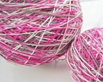 LAST AMOUNTS - Crochet Cotton - Size 10 - Hand Dyed - Birthday Cake