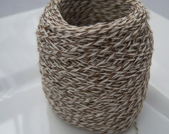 Bakers Twine - Caramel and White Bakers Twine or Your Choice -  50 or 100 yards - 3 Ply Color Selections