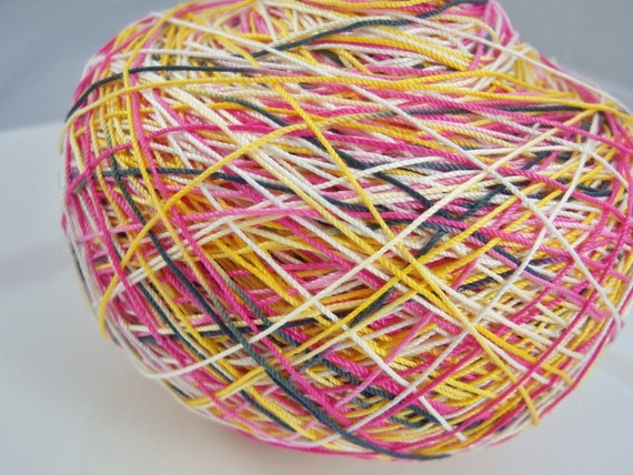 LAST AMOUNTS - Crochet Cotton - Size 10 - Hand Dyed - Cutie Pie - Small Project Size - 10, 25, 50, 75 or 100 Yards