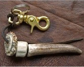 Antler and Rosette Keychain and Bag Charm