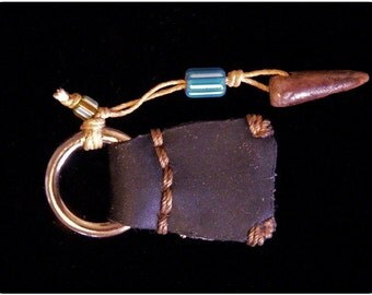 Antler Key Fob with trade bead