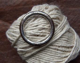 Beaten Sterling Silver Ring