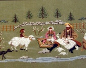 Heart of the Country Sheep Shearin Cross Stitch Chart