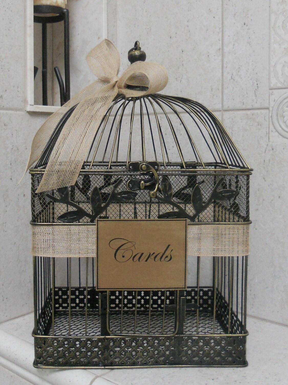 Large Card Box Wedding Card Holder Birdcage Card Holder – Large Wedding Card Box