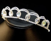 The Julie Tiara.  Vintage and New Swarovski Crystals.