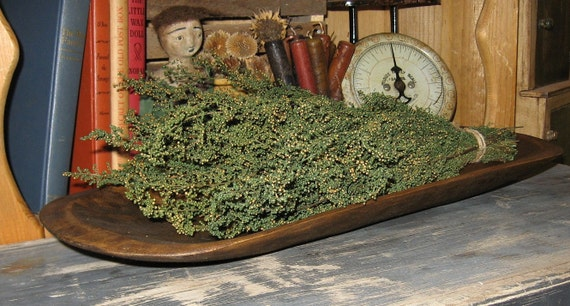 Primitive Wooden DOUGH BOWL-Country Kitchen-Cabin Decor-Wood Centerpiece-Ships FAST
