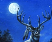 Deer, Silent Night, Peace on Earth, Christmas Card