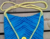 Blue Felt Tablet Bag