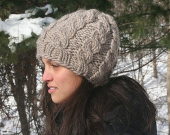 Bulky Cabled Hat Pattern (PDF)