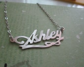 Personalized White Gold Name Necklace with Design A