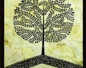 TREE Of LIFE, Warli painting, Indian folk art,Contemporary,black,green,nature,home decor,gift,custom