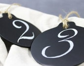 Hanging Chalkboard Sign Tags for Wedding Table Numbers, Set of 12