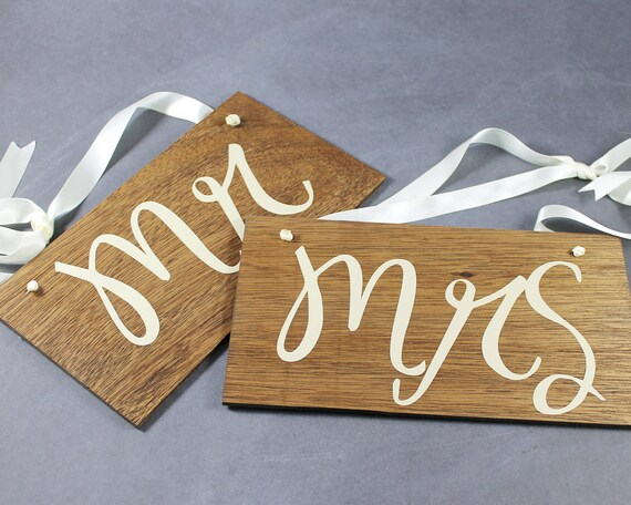 Mr and Mrs Chair Signs for Wedding Decor