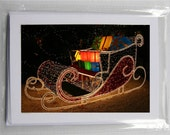 Blank Photo Holiday Cards (set of 5): Santa's Sleigh