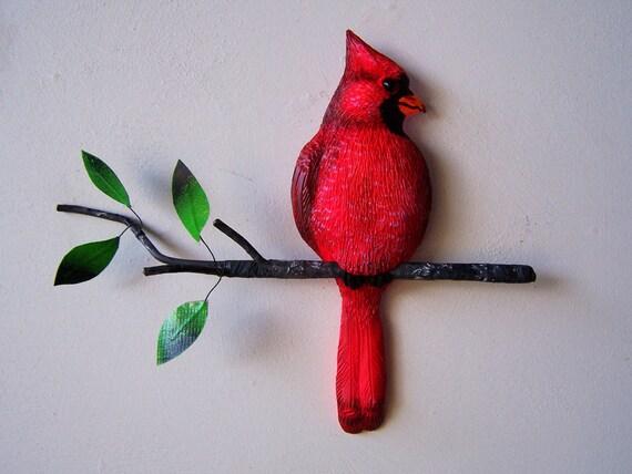 Cardinal Bird Art Wall Decor Sculpture By Artistjp On Etsy