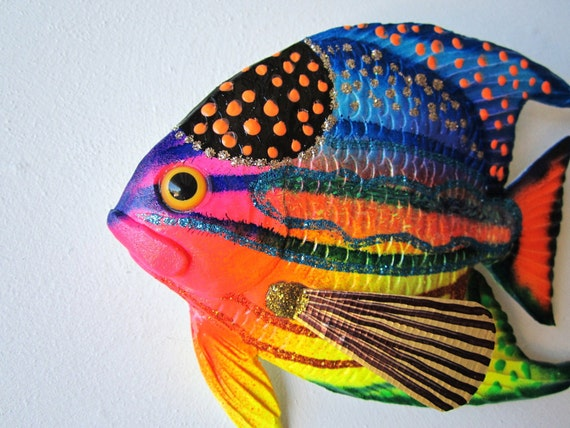Fish Art Tropical Fish Wall Decor By Artistjp On Etsy