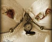 RESERVED for Najwarosdi1 Gorgeous Vintage white & Ivory Bra - Steampunk, Tribal Fusion Belly Dance, Alternative Wedding