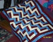 Zig-Zag  lap quilt