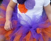 Clemson Tigers Felt Flower Onesie with matching Sparkle Tutu and Hairbow