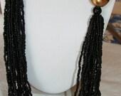 Black Multi strand necklace