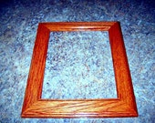 8x10 red oak picture frame