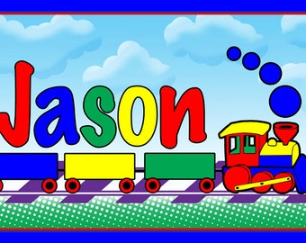 Children's Train Placemat - Personalized Party Favors