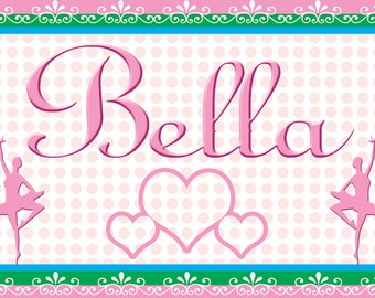 Children's Ballerina Placemat / Personalized Party Favors