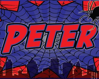 Personalized Spider Man Placemats - Party Favors