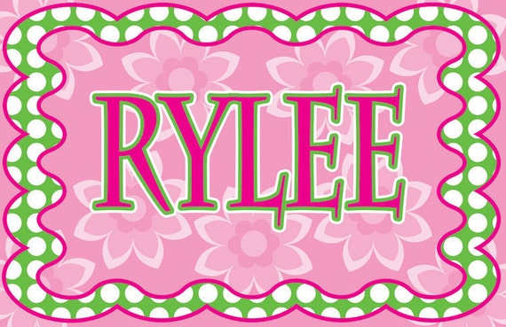 Personalized Placemats / Birthday Party Favors