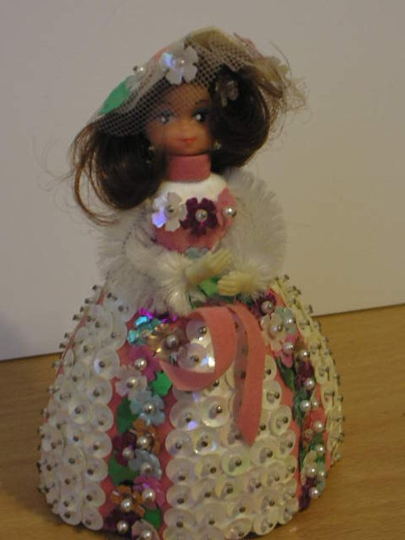 vintage 1970s lil beaded doll with by thewanderingguera