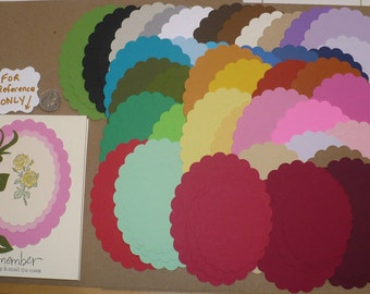 114 PC Scallop Oval Shapes Rainbow 3 Sizes Die Cut pieces Made from Rainbow color cardstock paper