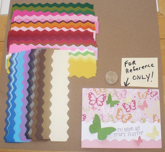38 pc Strips - made from  Stampin Up Die - 38 Die Cut pieces made from Rainbow colored cardstock