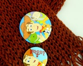 Children brown scarf, woody/ToyStory, back to school, boys scarf, hand weaved scarf