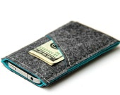 Private listing for Jay - iPhone sleeve / iPhone case / iPhone cover - Gray and Turquoise - Weird.Old.Snail