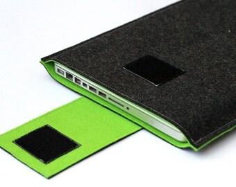 "MacBook Pro Cover, 15.6"" Laptop Case, 15"" Retinal display Case, 15 inch macbook pro sleeve - Dark Gray & Lawn Green"
