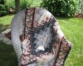 Oriental Floral Lap Quilt